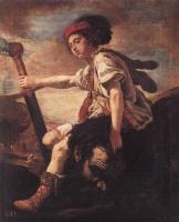 Доменико Фетти. Давид с головой Голиафа