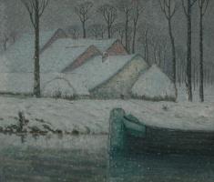William Degus de Nuquve. Winter landscape with Barca.