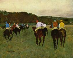 Эдгар Дега. Скаковые лошади в Лоншане