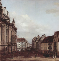 Giovanni Antonio Canal (Canaletto). View Of Dresden, The Frauenkirche