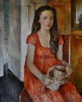 Polina Kuznetsova. The girl at the open door