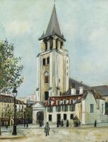 Морис Утрилло. Церковь Сен-Жермен-де-Пре, Париж