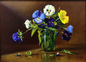 Sergey Alekseevich Makarov. Bouquet. Pansy