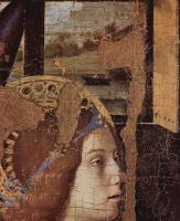 Антонелло да Мессина. Благовещение, фрагмент, деталь: Голова ангела