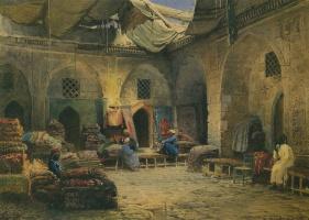 Konstantin Makovsky. Carpet shop in Cairo