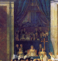 Jacques-Louis David. The coronation of the Emperor Napoleon I and coronation of Empress Josephine in Notre-Dame de Paris, 2 December 1804. Fragment. Napoleon's Mother