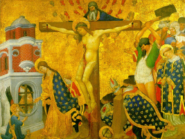 Henri Belshoz. The crucifixion with the Martyrdom of St. Dionysius
