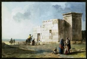 Жан-Пьер-Лоран Уэль. Греческий дом в Казал Цурико на Мальте