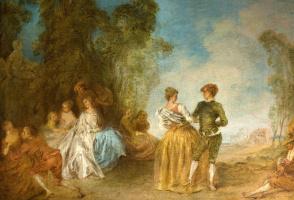 Жан-Батист Патер. Галантная сцена с танцующей парой