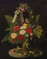 Отто Дидрик Оттесен. Натюрморт с цветами в корзине