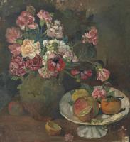 Бальтюс (Бальтазар Клоссовски де Рола). Натюрморт с цветами и фруктами