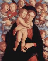 Андреа Мантенья. Мария с младенцем и ангелами (фрагмент)