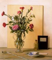 Антонио Буэно. Натюрморт с кистями и цветами