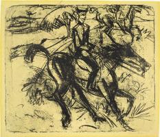 Ernst Ludwig Kirchner. Evening patrol