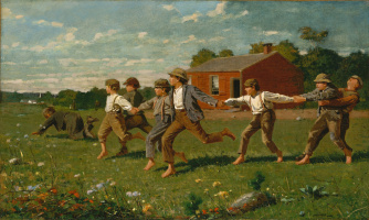 Winslow Homer. Snap of the whip (Play)