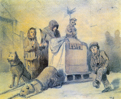 Василий Григорьевич Перов. Уличные музыканты в Париже
