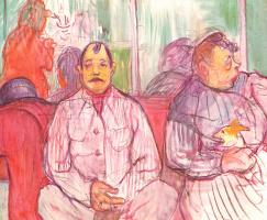 Henri de Toulouse-Lautrec. Monsieur, Madame and the dog