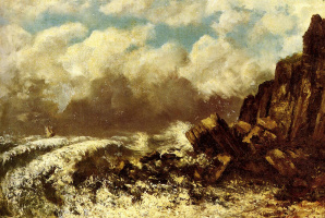 Gustave Courbet. The Sea Of Etretat