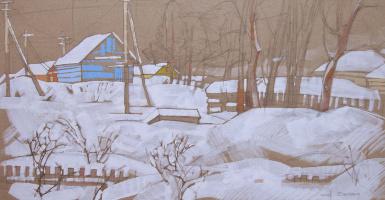 Двор. из серии Вологодские деревни