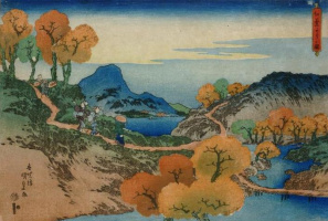 Утагава Кунисада. Осень в провинции