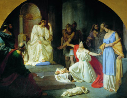 Nikolai Nikolaevich Ge. The court of king Solomon