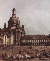Джованни Антонио Каналь (Каналетто). Вид Дрездена, Новый рынок со стороны Еврейского подворья, фрагмент