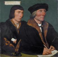 Ганс Гольбейн Младший. Двойной портрет сэра Томаса Годсалва и его сына Джона
