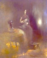 Эжен Каррьер. Женщина с ребенком на коленях