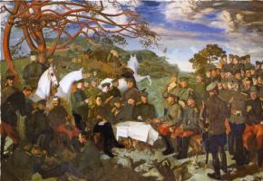 Василий Иванович Шухаев. Полк на позициях. Группа офицеров 4-го Мариупольского полка на Рижском фронте