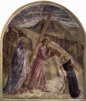 Фра Беато Анджелико. Цикл фресок доминиканского монастыря Сан Марко во Флоренции, сцена: Несение креста