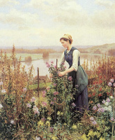 Лора Найт. Женщина в саду