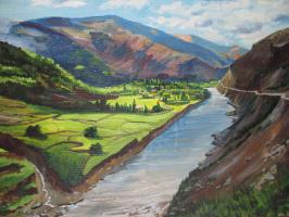Olga Suncheleeva. River in the mountains