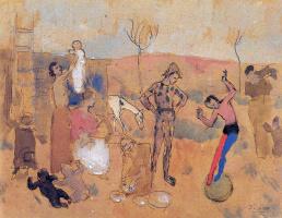 Пабло Пикассо. Семья жонглеров