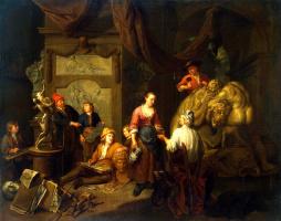 Балтазар ван ден Босхе. Мастерская скульптора