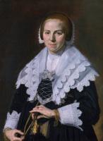 Франс Хальс. Портрет женщины с веером