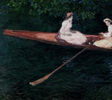 Клод Моне. На лодке по реке Эпт