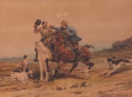 Pyotr Petrovich Sokolov. Violence. 1870