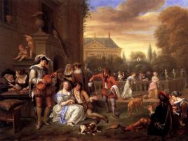 Jan Steen. Garden party