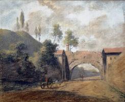 Теобальд Мишо. Пейзаж с аркой