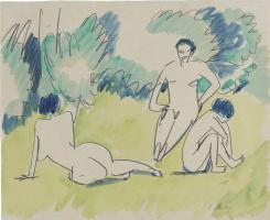 Ernst Ludwig Kirchner. Drei Akte im Grunen