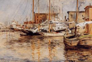 Джон Генри Твахтман. Лодки, Северная река