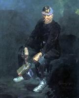 Джордж Люкс. Мужчина с трубкой