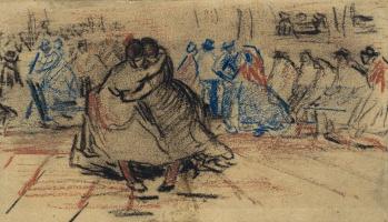 Винсент Ван Гог. Танцующая пара
