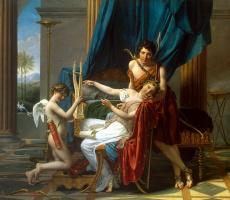 Jacques-Louis David. Sappho and a Faun