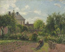 Camille Pissarro. The painter's garden at Eragny