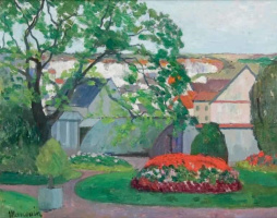 Henri Manguin. Flowerbed in the garden