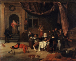 Jan Steen. The return of the prodigal son