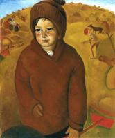 Борис Дмитриевич Григорьев. Мальчик на сенокосе