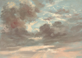 John Constable. Clouds. Stormy sunset