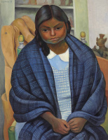 Diego Maria Rivera. Girl in reboso